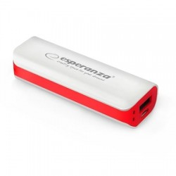 PowerBank ESPERANZA JOULE, 2200mAh, WHITE/RED, EMP103WR