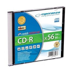 CD-R ESPERANZA SILVER, 700MB, 80min, 52X, SLIM CASE, 2009