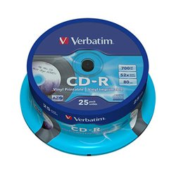 CD-R,VERBATIM, 700 MB,52X,spindle 25 kom EXTRA PRO.