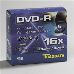 DVD-R TRAXDATA, 4.7GB, 16X, SLIM BOX 5 kom