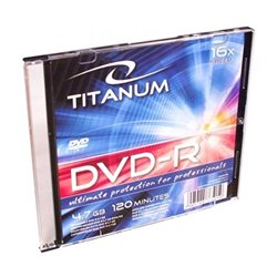 DVD-R TITANUM 4,7 GB X16, Slim Case, 1285