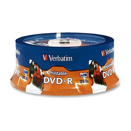 DVD+R DL, VERBATIM,8,5 GB,8X,spindle 25 kom,PRINTABLE
