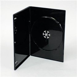 Omot za DVD, CRNI 7mm, DVD-1BS
