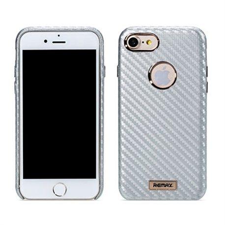 Zaštitna futrola Remax carbon case iPhone 7 silver