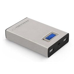 PowerBank ESPERANZA KINETIC, 8400mAh, SILVER, LED Flashlight, LCD Screen, EMP108S