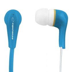 Slušalice ESPERANZA LOLLIPOP In-Ear, Noise dampening + Amplified BASS, blue, EH146B