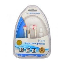 Slušalice ESPERANZA In-Ear, Amplified BASS , white-pink, EH127