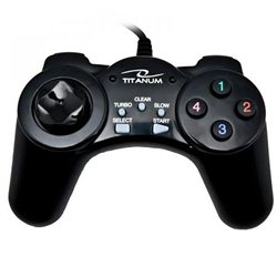 Game Pad TITANUM SAMURAI, PC, USB, black, TG105