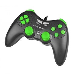 Game Pad ESPERANZA FIGHTER, vibration, PC, USB, black/green, EGG105KG