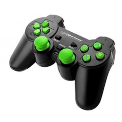 Game Pad ESPERANZA CORSAIR, vibration, PS2/PS3/PC, USB, black/green, EGG106G