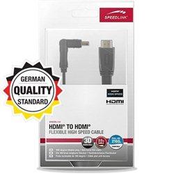HDMI fleksibilni kabl SPEEDLINK, HDMI to HDMI High Speed HDMI, 3m, SL-1713-BK