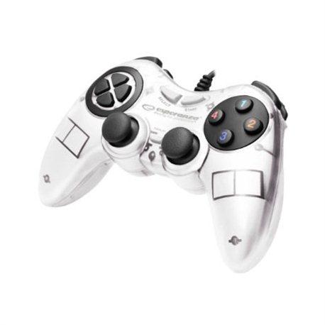 Game Pad ESPERANZA FIGHTER, vibration, PC, USB, white, EGG105W