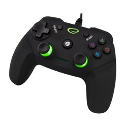 Game Pad ESPERANZA VANQUISHER, USB, vibration, PC/PS3, black, EGG110K