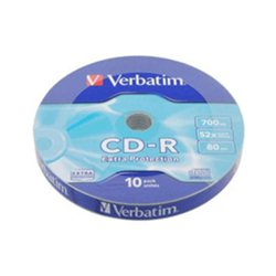 CD-R,VERBATIM, 700 MB,52X,spindle 10 kom EXTRA PRO.