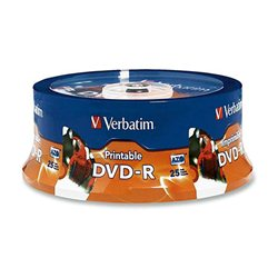 DVD-R, VERBATIM,4,7 GB,16X, spindle 25 KOM PRINTABLE