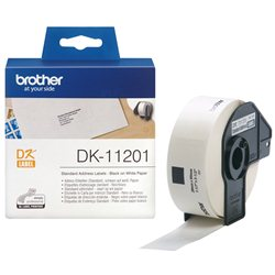 Brother DK-11201 Crno na belo DK label-making tape