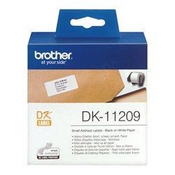 Brother DK-11209 Crno na belo DK label-making tape