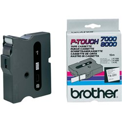 Brother TX-251 Crno na belo TX label-making tape