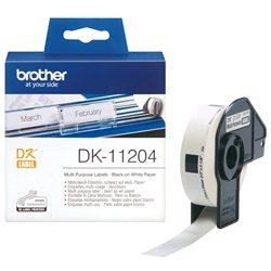 Brother DK-11204 Crno na belo DK label-making tape