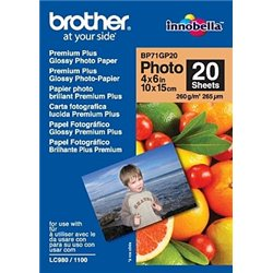 Brother BP71GP20 Premium Glossy Photo Paper Belo
