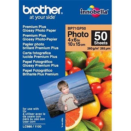 Brother BP71GP50 Premium Glossy Photo Paper Belo
