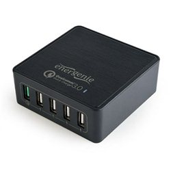 Power station USB brzi/quick punjač GEMBIRD, 8A 40W black, EG-UQC3-02