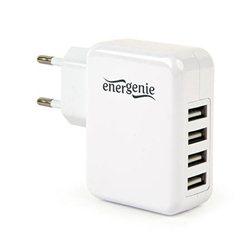 USB univerzalni strujni punjač GEMBIRD, 4-port, 5V, 3,1A, EG-U4AC-02, white