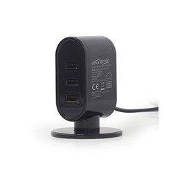 DC USB power station punač 3.1 A, Izlazi: 3xUSB, 3.1 A, GEMBIRD, EG-U3C3A-01-MX