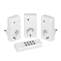 VIVANCO set od tri utičnice + wireless remote sa RF kontrolom, 1000W, white 26551