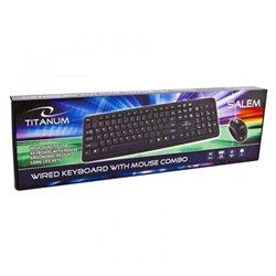 Tastatura i miš TITANUM SALEM, USB, US layout, TK106