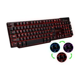 Tastatura gaming mechanical feel ESPERANZA HUNTER, USB, multicolor illuminated, multimedia, US layout, EGK601