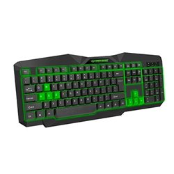 Tastatura gaming ESPERANZA TIRIONS, USB, illuminated, green, US layout, EGK201G