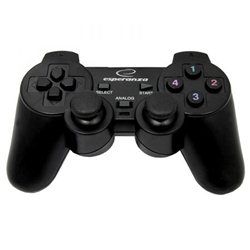 Game Pad ESPERANZA WARRIOR, vibration, PC, USB, black, EG102
