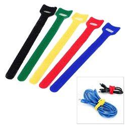 Velcro samoljepljive vezice za uređeivanje kablova računara GEMBIRD, VT-210x12, 210 mm crna, 1 kom