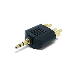 Audio adapter GEMBIRD A-458, 3.5 mm plug to 2 x RCA plug stereo audio adapter
