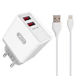 XO 2-port USB wall charger L35D 2.1A + Lightning cable